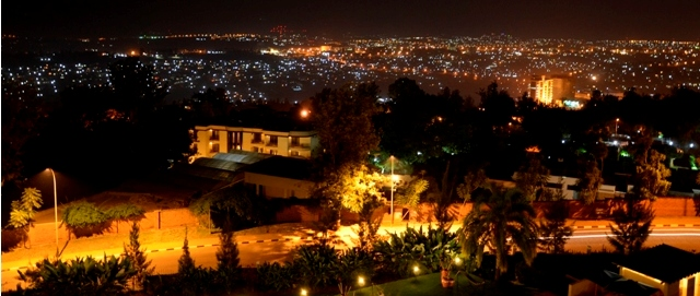 stunning kigali city at night