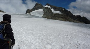 Rwenzori Mountains snow peak