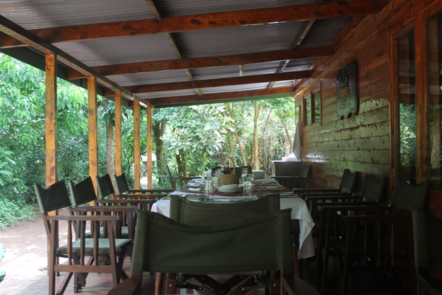 budongo eco lodge terrace and restaurant